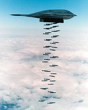 폭격 죽어라 폭탄 폭격기 비행기 b-2 스텔스 폭격기 b2
