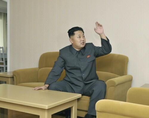 김정은 북한 저요 저기요 여기요 손들고 손들어